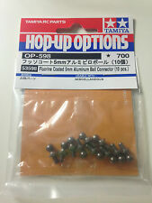 Tamiya 53598 Fluorine Coated 5mm Aluminum Ball Connector (10 Pcs) NIP