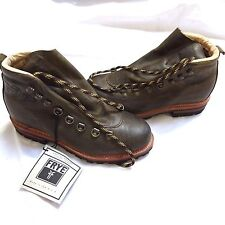 NEW FRYE COBB MADE IN USA OLIVE GREEN LEATHER HIKING TRAIL BOOTS 8US