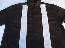 Havanera Mens Button Front Short Sleeve Rayon Polyester Shirt X Large XL