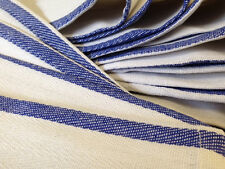 1 DOZEN 100% COTTON BLUE STRIPE HERRINGBONE KITCHEN DISH TOWELS LINT FREE