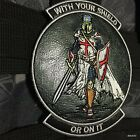 Velcro Leather WITH YOUR SHIELD or on it TEMPLAR KNIGHTS patch CRUSADER Morale