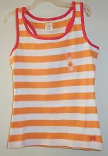 ** BNWT ** Gymboree Bright and Beachy Orange / White / Pink Stripe Top 6 Year
