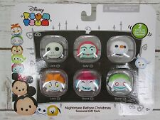 Nightmare Before Christmas Tsum Tsum Vinyl Toy Gift Pack 6 Glow Disney NEW Jack