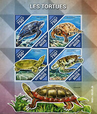 Niger 2015 neuf sans charnière tortues 4V m / s reptiles tortues tortue LYRE MER