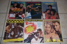 1969 The Ring MUHAMMAD ALI Joe FRAZIER II Heavyweight Championship SET of 6