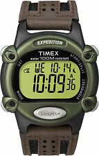 "Timex T48042, Men's ""Expedition"" Chronograph Digital Leather Watch, T480429J"