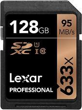 LEXAR PROFESSIONAL SDXC 633X 95MB/s 128GB CLASS 10 FLASH MEMORY CARD NEW st