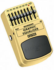Behringer EQ700 Graphic Equaliser Guitar Effects Pedal / Stomp Box NEW