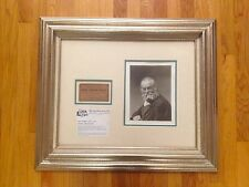 SIGNED WALT WHITMAN  PHOTOGRAPH LECTURE TICKET SIGNED!!! DEATH OF LINCOLN
