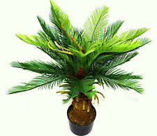 Artificial Palm Tree Large 90cm Potted Cycas Realistic Tropical Plant Indoor D03