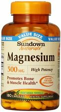 Sundown Magnesium 500mg Caplet 180ct