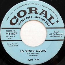 JUDY KAY 45 Lo Siento Mucho CORAL Country BOPPER Original Press PROMO #D180