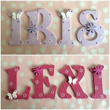 Customised Child Children Bedroom Decoration Wooden Name Plaque Letters Boy Girl