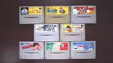 Super Famicom SFC Mario Kart Kunio Kun Dragon Ball Gundam X Poyu 8 games lots