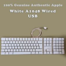 100% Genuine Authentic Apple A1048 USB Wired Keyboard White - UK Layout