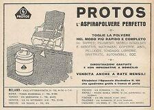 Z0210 PROTOS l'Aspirapolvere perfetto - Pubblicità del 1928 - Advertising