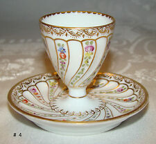 Antique Dresden GERMANY Egg Cup with Attached Liner Helen Wolfsohn c 1890's #  4