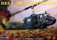 Revell 1/24 Bell Huey Gunship Helicopter Model Kit 5633 New