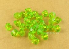 200Pcs 6mm Green Acrylic Spacer Loose Bicone Beads DIY Charms