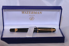 Waterman Phileas Fountain Pen,Black Gold Trim,M Nib,box,converter NICE PEN LOOK