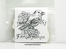 EMBOSSING ARTS Bird With Berry In Mouth Cling Mount Rubber Stamp