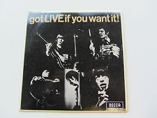 THE ROLLING STONES  ORIGINAL  1965  UK EP   GOT LIVE IF YOU WANT IT   EX