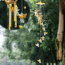 Wind Chime Home 4 Tubes Angel Cubitt Metal Garden Decor Outdoor Living Gift