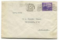 REGNO, BUSTA DA TORINO APR 1940, FRANCOBOLLO C.50 CENTENARIO FERROVIE     m