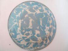 14764 Teller splatter ware Emaille marmoriert  plate 16 cm gut