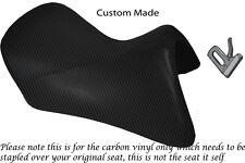 CARBON FIBRE VINYL CUSTOM FITS BMW R 1200 RT FRONT SEAT COVER FOR A LOW SEAT
