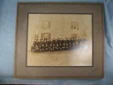 Antique Large Cabinet Photo Of 40 Men In Hats In Front Of A House Easton PA (O)