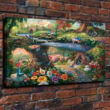 "HD Print Disney ""Alice in Wonderland"" decorative art painting on canvas 16x24"