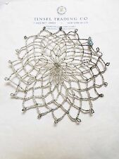 Vintage/Antique Italian Glass Silver Beaded Doily? Starburst? Decorative ""