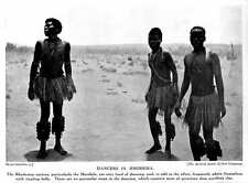 1913 Natives Of Rhodesia Matabele Fond Of Dancing