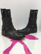 "Frye Veronica 6"" Shortie Dark Brown Ankle Buckle Boots 76872 Size 9B"