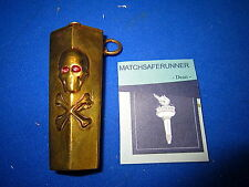 MACABRE COFFIN SKULL & CROSSBONE MATCH HOLDER VESTA CASE MATCH SAFE STRIKER