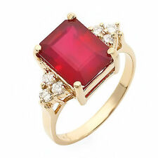 Estate ring 5.5 ct natural ruby and diamond 14k gold