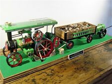Customised Mamod TE1a Traction Engine, Trailer and Water Tank