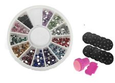Stamping Nail Art Set.Manicure craft KIT with Stamp Scraper + 1000 Rhinestones