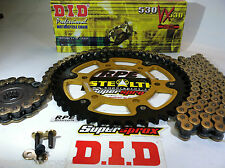 YAMAHA YZF R1 '99-03 DID & SUPERSPROX GOLD 530 CHAIN & SPROCKETS *OEM, QA or Fwy