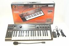 KORG R3 Synthesizer / Vocoder w/ Mic, Adapter R-3 Radias MMT Engine
