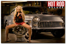 Hot Rod Car Vintage Art Silk Wall Posters 24x36 inch Hot Sexy Model 007