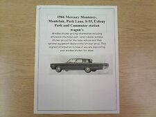 1966 Mercury full-size cost/dealer retail sticker pricing for car + options $