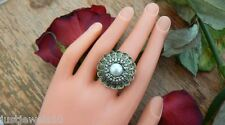 Ring Crystals Pearl Vintage Jewellery Quirky Unusual Gift her Art Deco Boho wife