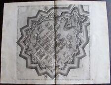 """THOMAS DE LEU. (1560-1612), PLANCHE 14 """"des fortifications  artifices ......1601"""