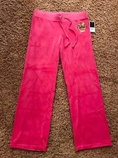 NWT sexy JUICY COUTURE Velour jogging sweatpants women's size: L, Pink $128