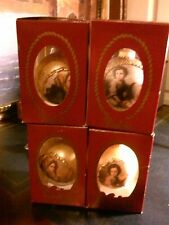 4 VICTORIA COLLECTION Glass Ornament new in box NO UPC Rauch Vtg