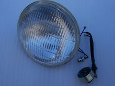 "LUCAS HEAD LAMP HEAD LIGHT BEAM LENS 7"" WITH PILOT BULB BSA TRIUMPH NORTON AJS"