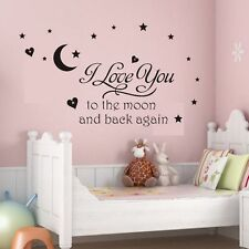Kids Bedroom Decal Wall Sticker Art Decoration Vinyl Letters Baby Children New