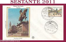 ITALIA FDC FILAGRANO 1987 PIAZZA SAN CARLO TORINOMEDIA CONSERVAZIONE H447